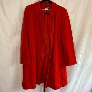 Harve Benard Red Wool Blend Coat, size 12